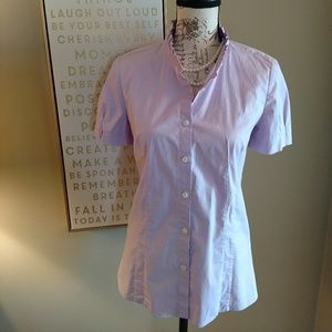 Lilac shortsleeved JCREW button up